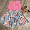Цветочная юбочка, брендовая деловая женская одежда, Федоровское
