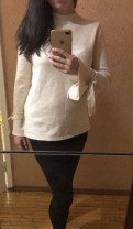 Jetty plus женская одежда оптом от производителя, свитер с завязками на рукавах Fashion Union, Санкт-Петербург