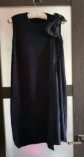 Женский пуховик с мехом лисы, платье Moschino 42-44
