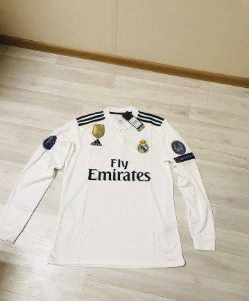 Футболка в красную полоску мужская купить, футболка Реал Мадрид длинный рукав белая Оригинал