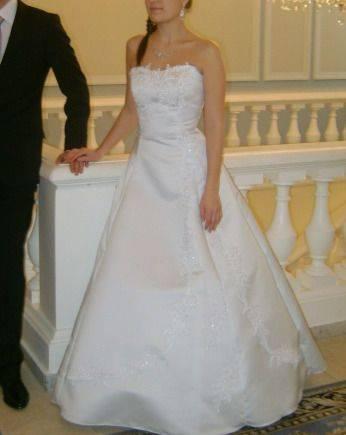 Платье свадебное, свитер перевертыш с пайетками