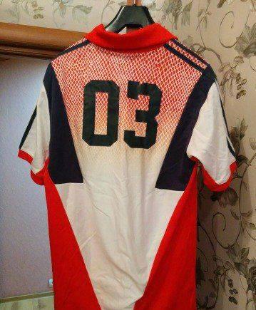 Длинная футболка Adidas Original с воротником, толстовка умбро купить