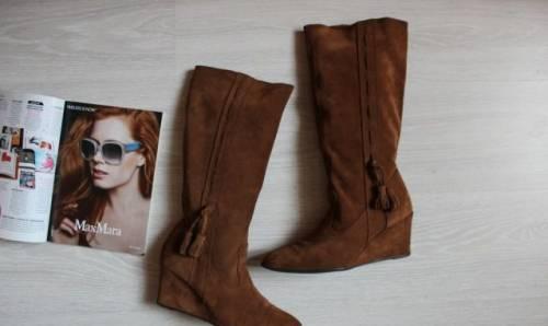 Итальянская обувь интернет магазин скидки, сапоги Sprit, нат. замша