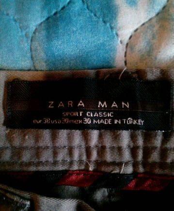 Брюки спорт, классика Zara Man, мужская одежда amaia