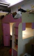 Двух ярусная кровать со шкафом и столом, Тосно