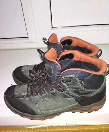 Ботинки ecco р.43, мужские мокасины на меху