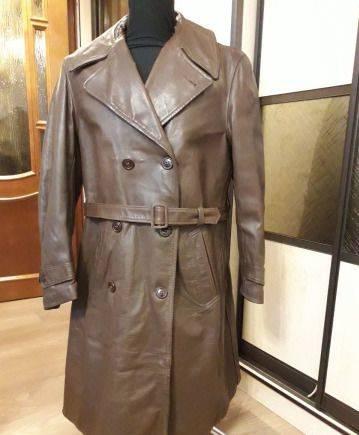 Интернет магазин спортивной одежды в эстонии, кожаный Плащ- Пальто. Старый Тяжёлый 1943-1944