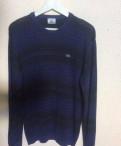 Пуловер свитшот Lacoste, футболка желтая в черную полоску, Толмачево