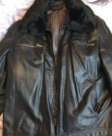 Мужская одежда заказать через интернет, кожаная куртка