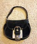 Красивая черная замшевая сумка из США, Рябово