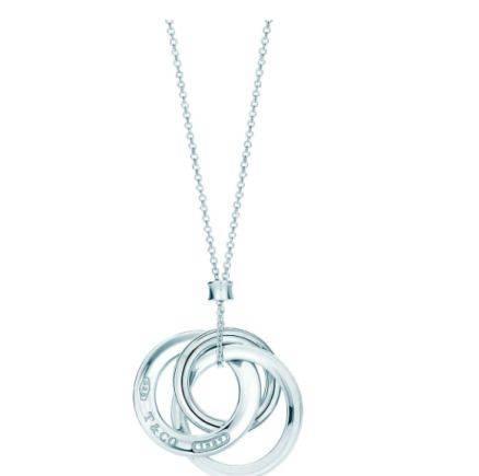 Tiffany серебряная цепочка с тремя кольцами