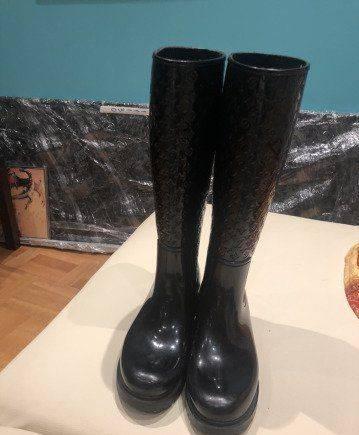 Сапоги резиновые Louis Vuitton, женская обувь фирмы габор