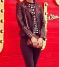 Кожаная куртка H&M, штаны nike с лампасами, Выборг