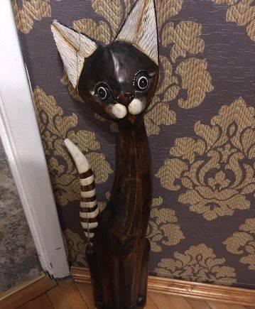 Кот деревянный