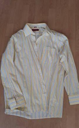 Рубашка хлопок, длинная стеганая куртка мужская