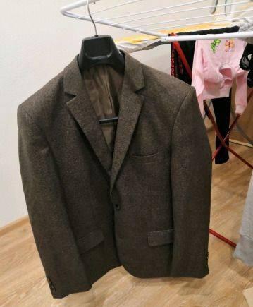 Пиджак 48-50, мужской свитер английской резинкой