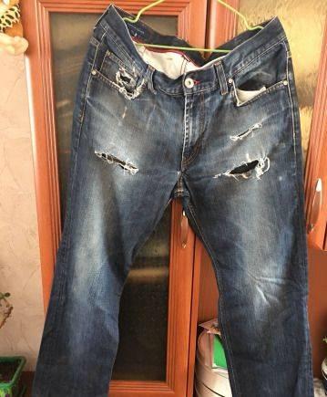 Чёрные брюки мужские зауженные, джинсы Tommy Hilfiger