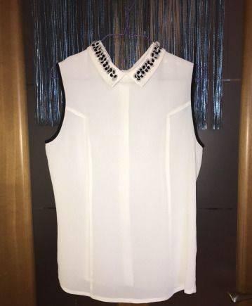 Блузка Marks and Spencer, платье шифон кружево