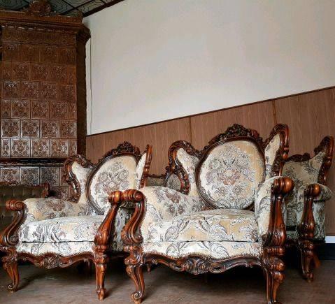 Гарнитур резной рококо барокко диван два кресла