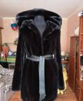 Купить платье осень зима, шуба норковая с капюшоном Blackglama