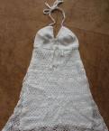Свадебное платье на одно плечо, новые вязаные чёрный и белый сарафаны