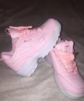Элитная обувь 41 42 размера, кроссовки fila розовые, Санкт-Петербург