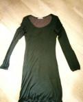 Платье Valentino, летнее платье свободного кроя из трикотажа