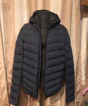 Куртка пуховик мужская демисезон, рубашки цвета хаки