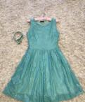 Платье новое 44 р-р, платье с воланами на плечах бежевого цвета из неопрена