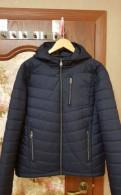 Куртка демисезонная синяя новая L, мужские рубашки большой рост