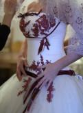 Свадебное платье, платье красное пайетки