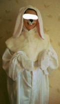 Женское платье с кожаными вставками, костюм Зайца, Агалатово