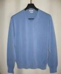 Голубой пуловер Peter Millar, купить мужскую длинную футболку