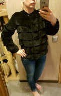 Шуба (куртка) из стриженного кролика, женская одежда на заказ через интернет дешево