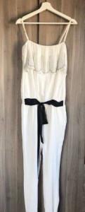 Женское платье с белым воротником, комбинезон Waggon Paris белый, Санкт-Петербург