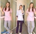 Платья 2018 года свободного кроя, медицинские костюмы, Бокситогорск