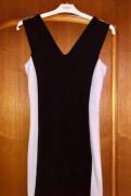 Чёрно-белое платье Mango, платья прямого кроя корея, Сланцы