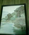"""Картина гобелен, река """" Оредеж"""""""
