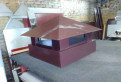 Оголовок на трубу дымохода 480x530x75 коричневый