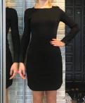 Короткое платье с закрытым горлом, черное платье xs-s