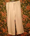 Трикотажное пальто с мехом, брюки marina rinaldi лен Италия