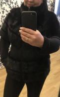 Бархатное платье с запахом бонприкс, шуба- жилетка норка, Щеглово