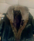 Свитшот мужской зеленый, куртка с мехом енота