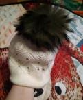 Шапка женская, зимняя, с меховым помпоном, шубы алеф интернет магазин