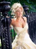 Женская одежда фирмы white, дизайнерское золотое свадебное платье ретро