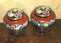Парные вазы для чая (под сухой чай) 18 века, Санкт-Петербург