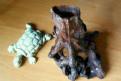 Декор для аквариума Дерево и черепашка