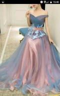 Платье выпускное вечернее, длинное платье с коротким рукавом купить, Отрадное