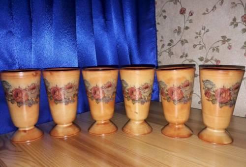 Набор стаканов керамика