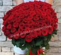 Букет из цветов 101 роза 70 см, Токсово
